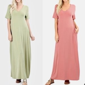 SCOTTIE Boho Maxi Dress - DARK ROSE